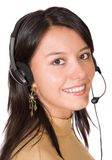Beautiful Customer Support Girl Royalty Free Stock Image