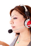 Beautiful Customer Support Girl Stock Photography