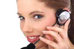 Beautiful customer support girl Royalty Free Stock Photo