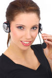 Beautiful customer support girl Royalty Free Stock Photography