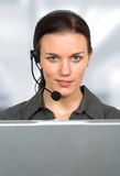 Beautiful customer support girl Royalty Free Stock Images