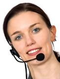 Beautiful customer support girl Stock Image