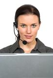 Beautiful customer support girl Royalty Free Stock Photos