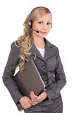 Beautiful customer support operator Stock Photography