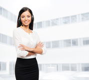 Beautiful customer support operator Royalty Free Stock Images