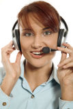 Beautiful customer support Royalty Free Stock Image