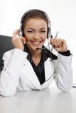 Beautiful customer support Stock Photos