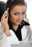 Beautiful customer support Stock Image