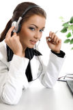Beautiful customer support Royalty Free Stock Photography