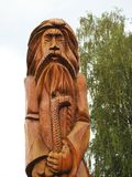 Beautiful cut old man sculpture in park, Lithuania Stock Photography