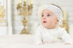 Beautiful cute adorable little girl posing Stock Photography