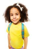 Beautiful cute African girl in yellow T-shirt Stock Image