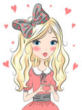Beautiful,cute blonde girl. Royalty Free Stock Images