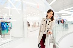 Businesswoman walking Stock Photo