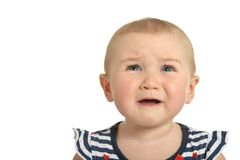 Beautiful cute crying  baby Stock Images