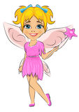 Beautiful cute girl dressed in fairy costume Stock Photography