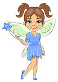 Beautiful cute girl dressed in fairy costume Royalty Free Stock Image