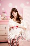 Beautiful Cute Pregnant Woman Indoors Royalty Free Stock Image