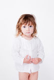 Beautiful cute shy child Royalty Free Stock Image