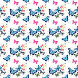 Beautiful cute sophisticated magnificent wonderful tender gentle spring colorful butterflies pattern Stock Photo