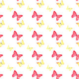 Beautiful cute sophisticated magnificent wonderful tender gentle spring colorful butterflies pattern Stock Photos