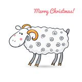 Beautiful cute vector sheep, symbol of the new. Beautiful cute sheep, symbol of the new year, vector illustration Royalty Free Stock Photography