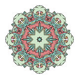 Beautiful cute vintage circle mandala Stock Images