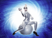 Beautiful cyber woman Royalty Free Stock Photography