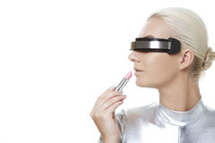 Beautiful cyber woman Royalty Free Stock Image