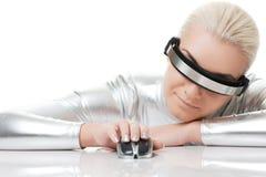 Beautiful cyber woman Royalty Free Stock Photo