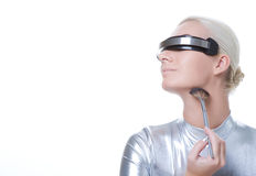 Beautiful cyber woman Royalty Free Stock Images