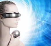 Beautiful cyber woman Royalty Free Stock Photography