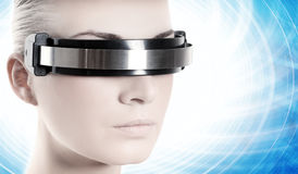 Beautiful cyber woman Royalty Free Stock Photo