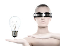 Beautiful cyber woman Royalty Free Stock Photos