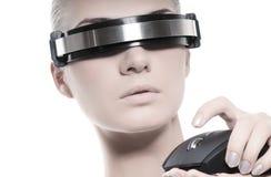 Beautiful cyber woman Stock Image