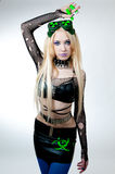Beautiful cybergoth blonde girl Royalty Free Stock Photography