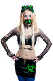 Beautiful cybergoth blonde girl Royalty Free Stock Photo