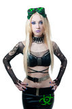Beautiful cybergoth blonde girl Stock Images