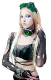 Beautiful cybergoth blonde girl Royalty Free Stock Photos