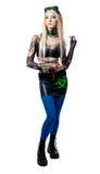 Beautiful cybergoth blonde girl Royalty Free Stock Image
