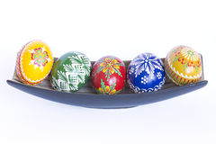 Beautiful Czech Easter Eggs Stock Photos
