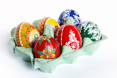 Beautiful Czech Easter Eggs Stock Image