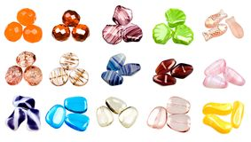 Beautiful Czech glass beads. Czech glass beads for the manufacture of jewelry Royalty Free Stock Photography