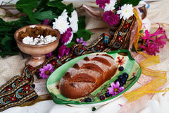 Beautiful Czech nat on loaf in a still life Royalty Free Stock Photography