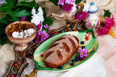 Beautiful Czech nat on loaf in a still life Stock Photography