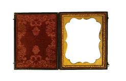 Beautiful Daguerreotype picture case Stock Images