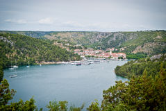 Beautiful dalmatian town Skradin Royalty Free Stock Photography