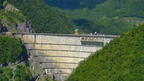 Beautiful dam, hydroelectric power station stock video footage