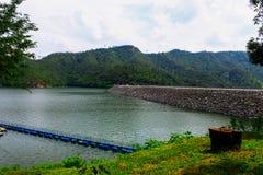 Beautiful dam and mountains Royalty Free Stock Photos