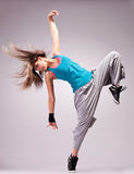 Beautiful dance pose of a young woman Royalty Free Stock Photography